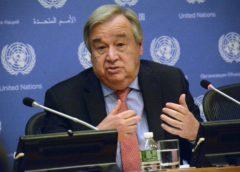 United Nation chief António Guterres.