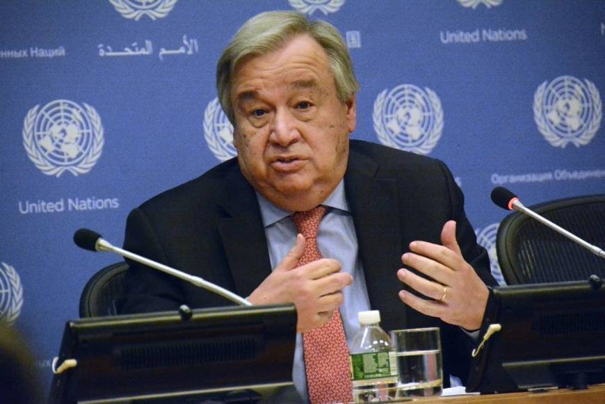 United Nation chief António Guterres.