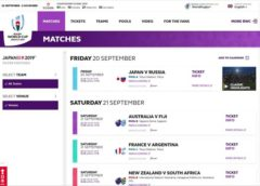 Matches – Rugby World Cup 2019