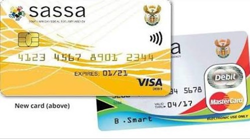 Grant cards from Sassa