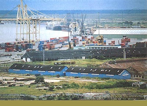Port in Beira Mozambique