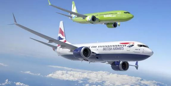 A British Airways and Comair (Kulula-registered) planes in flight