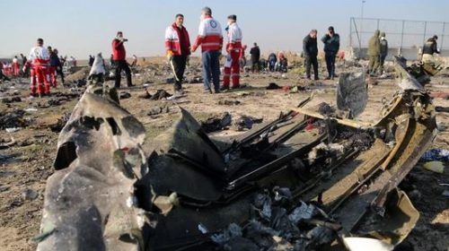 Image of the Ukranian plane shot down by islamic group in Iran