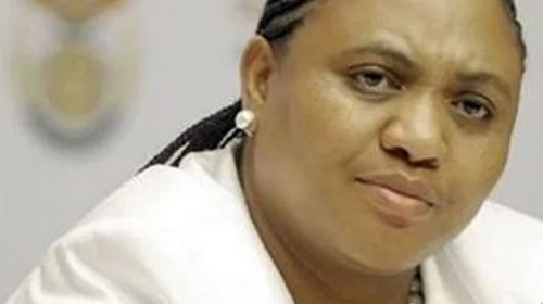 Photo of minister of agriculture in SA, Thoko Didiza