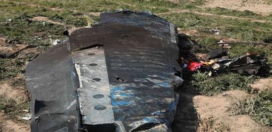 image of Iranian plane crash