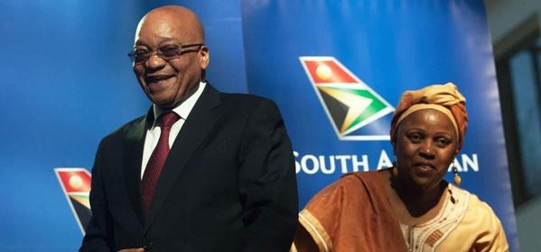 Image of former SA president Jacob Zuma and corrupt SAA former CEO, Dudu Myeni