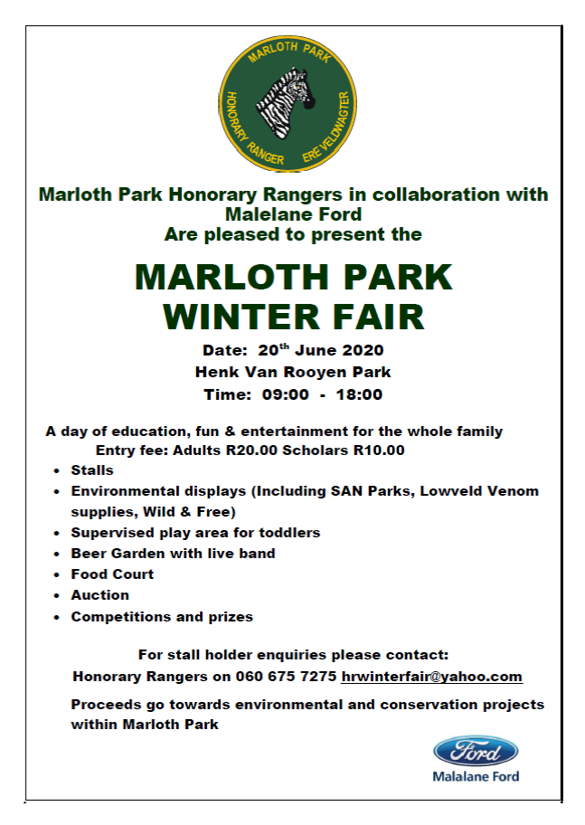 Marloth Park Winter Fair
