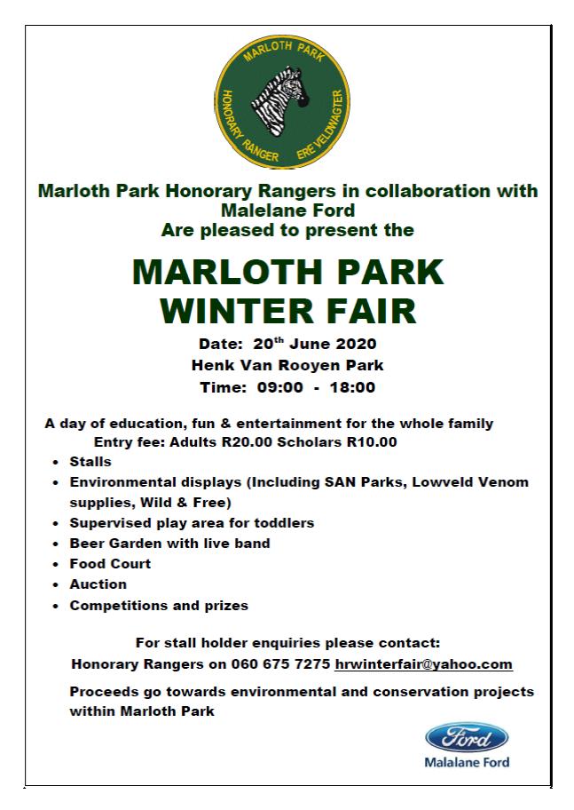 Marloth Park Winter Fair